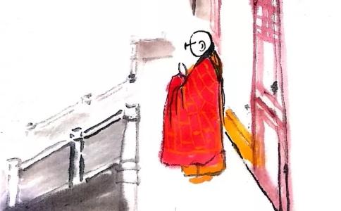 """一位居士曾说:禅修时""""不让讲话,还挺开心的"""""""